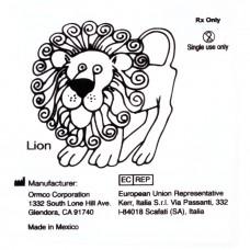 """Ormco Lion Лев слабые внеротовые эластики 1/2"""" 8Oz 6G"""