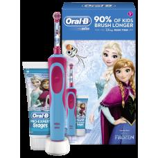 Braun Oral-B Stages Power D12.513.1 Frozen Холодное сердце (На аккумуляторе) и зубная паста