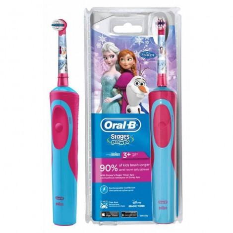 Браун Орал Би Stages Power D12.513.1 электрическая зубная щетка Frozen Холодное сердце