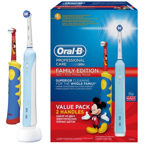 Набор ORAL-B family edition (Professional care 500 + Kids D10.513K)