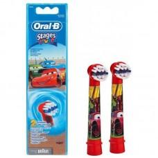 Braun Oral-B Stages Power Cars EB10K  насадки для детской электрической щетки (2 штуки)