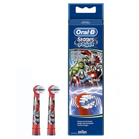 Braun Oral-B Stages Marvel EB10K насадки для электрической щетки (2 шт)