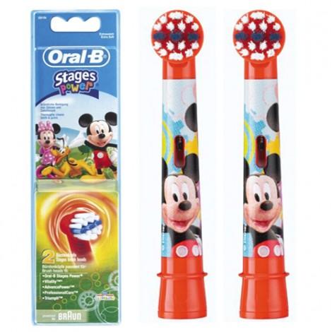 Braun Oral-B Stages Power Mickey EB10K насадки для детской электрической щетки (2 штуки)
