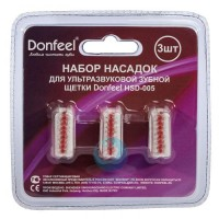 Donfeel HSD-005 насадки для щетки средней жесткости красная (3 шт)