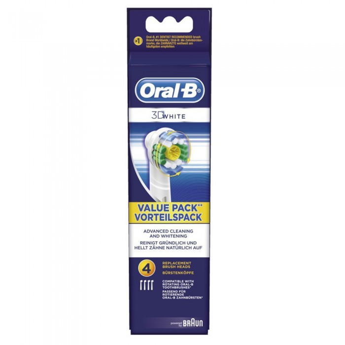 Braun Oral-B 3D White насадки для отбеливания эмали (4 шт)