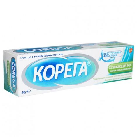 Корега крем для фиксации зубных протезов освежающий вкус (40 гр) X35C