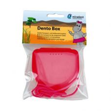 Miradent Dento Box Pink ударостойкий футляр для хранения ортопедических конструкций розовый (69*78*26)