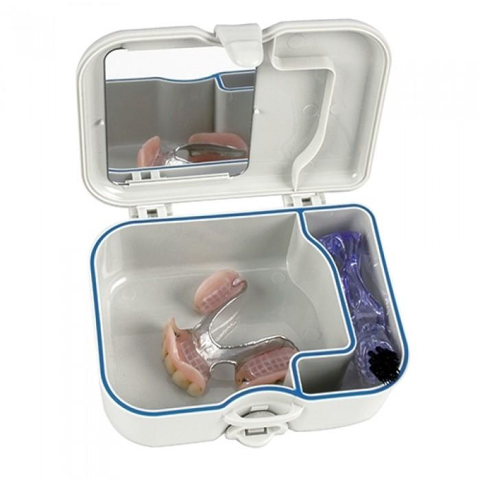 Miradent Protho Box футляр для хранения протезов щетка в комплекте