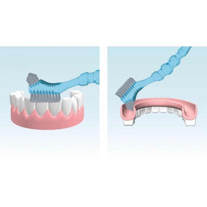 Miradent Protho Brush De Luxe щетка для чистки съемных зубных протезов (голубая)