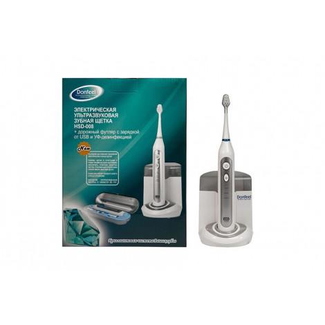 Donfeel HSD-008 ультразвуковая зубная щетка (3 насадки)