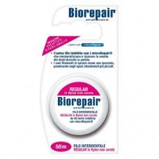 Biorepair Floss Regular in nylon non cerato Расширяющаяся зубная нить без воска (40 м)