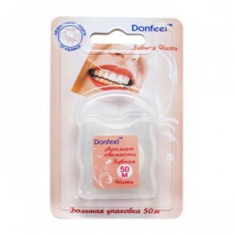 Donfeel UF-623 зубная нить аромат свежести со вкусом сладкой мяты (50 м)