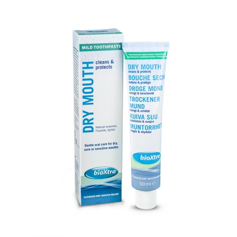 Купить BioXtra Mild зубная паста с антибактериальными ферментами слюны (50 мл)