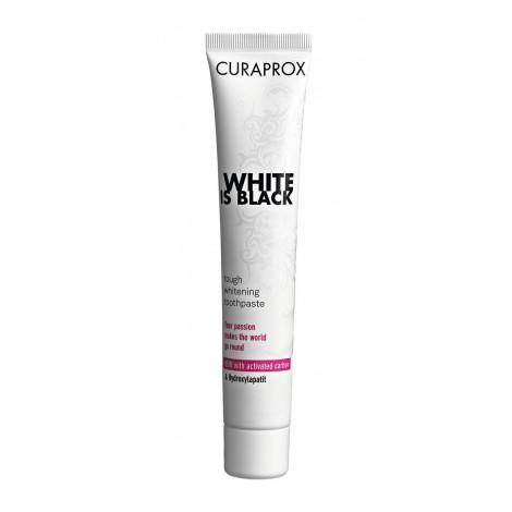 Curaprox White is Black белая зубная паста со вкусом лайма и мяты (90 мл)