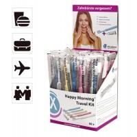 Miradent Happy Morningе Travel kit одноразовые зубные щетки с зубной пастой 3гр. (50 шт)