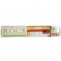 ROCS зубная паста Bionica для здоровья десен (74 гр) и зубная щетка средней жесткости