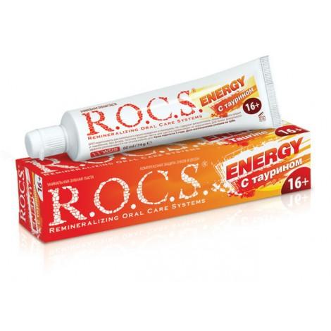 ROCS зубная паста энерджи с таурином комплексная защита 16+ (74 гр)