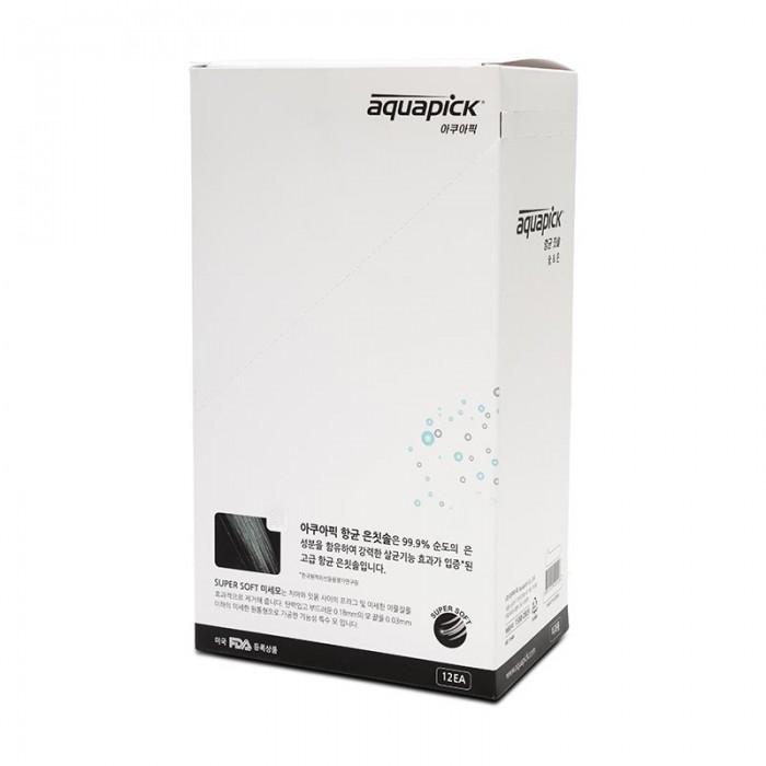 Aquapick щетка антибактериальная AT-S1, AT-C1 С компонентом серебра и угля (4 шт)