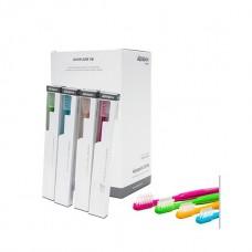Aquapick коробка щетка ортодонтическая маленькая AT-01 цвета в ассортименте (20 шт)