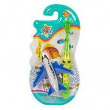 Corlyse kids Plan NO.306 детская зубная щетка с самолетом