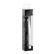Curaprox CS 5460 Duo Black is White Ultrasoft набор из 2 зубных щеток белая и черная