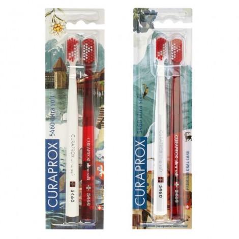 Curaprox CS 5460/2 Duo Swiss Ultrasoft набор зубных щеток с ультрамягкими щетинками (2 шт)