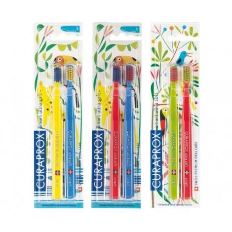 Curaprox набор детских зубных щеток CS smart/2 Duo Jungle