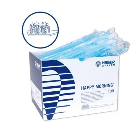 Hager Werken Happy Morningе одноразовые зубные щетки с напылением зубной пасты (100 шт)