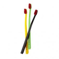 Swissdent Profi Colours Fancy Soft-Medium зубные щетки (черный, желтый, салатовый) 3 шт