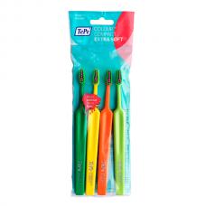 TePe Colour Compact X-Soft зубная щетка с супер мягкими щетинками (4 шт)