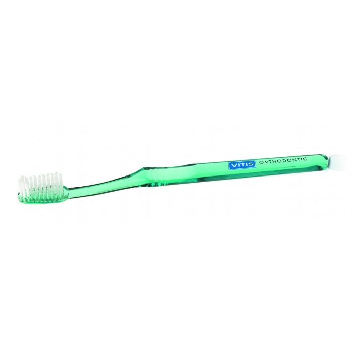 Vitis Orthodontic ортодонтическая зубная щётка с мягкими щетинками в твердой упаковке (1 шт)