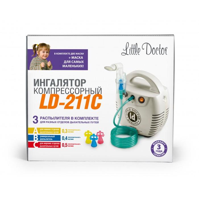 Little Doctor LD 211C Белый ингалятор (небулайзер) компрессорный, 3 распылителя в комплекте