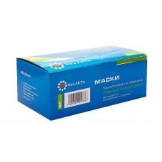 МедАНТа Маска трехслойная на резинках в коробке (50 шт)