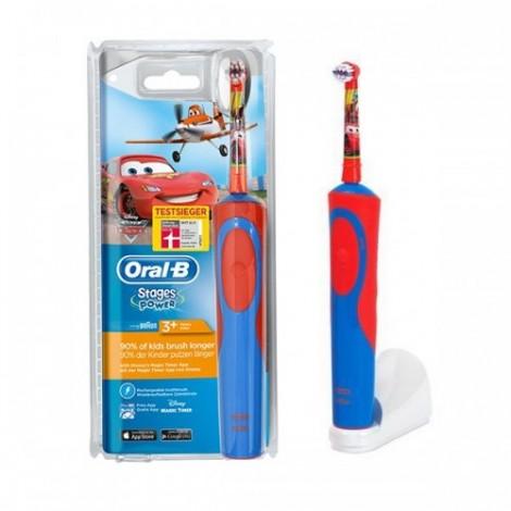 """Braun Oral-B электрическая зубная щетка для детей """"Тачки"""" Strages Power на аккумуляторе"""